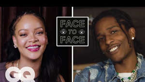 ASAP Rocky posing for the camera: Watch Rihanna answer 15 questions from A$AP Rocky on Vogue: https://youtu.be/EpGCCKB3Oag