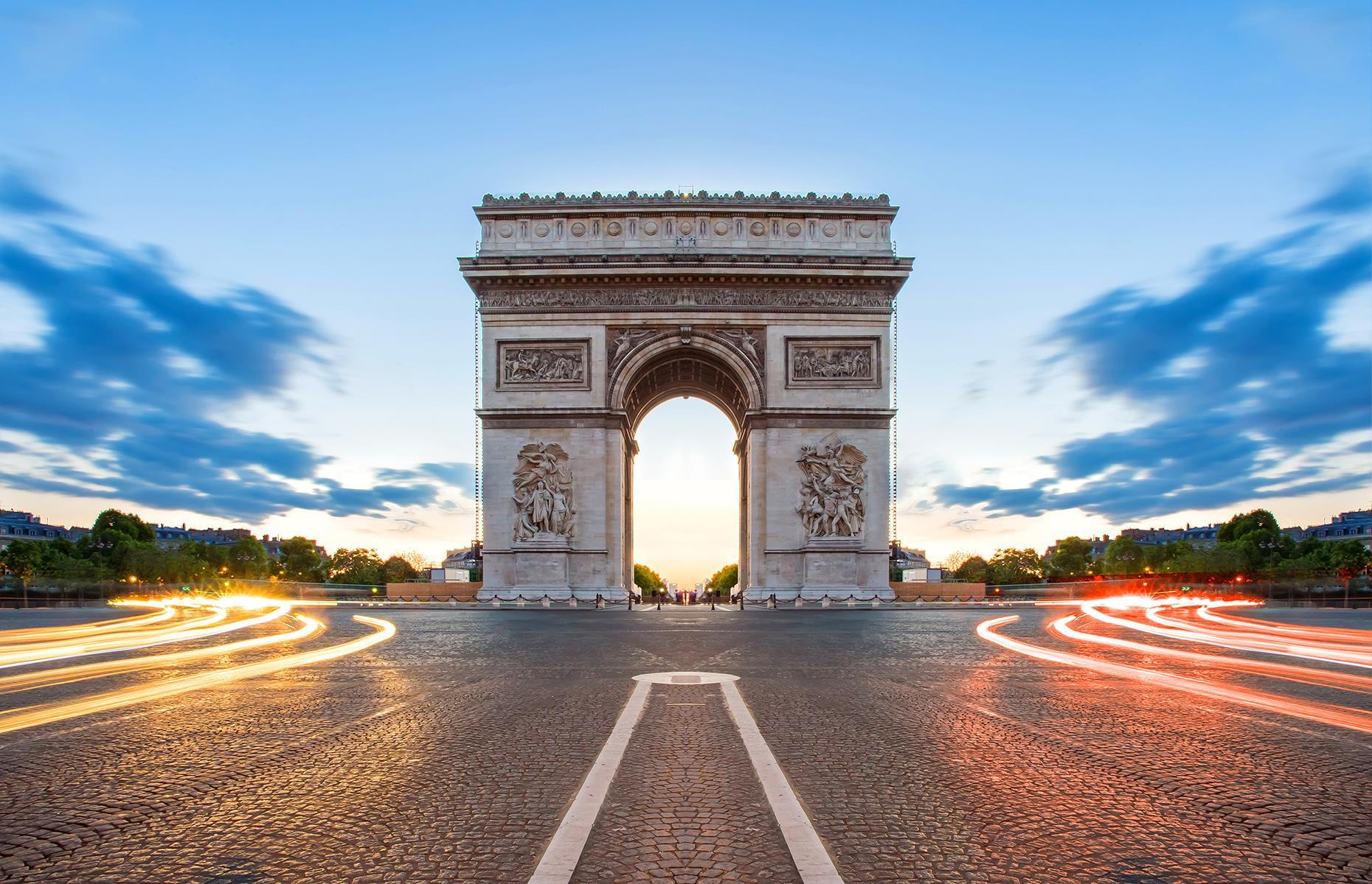Slide 35 of 53: Officially called Arc de Triomphe de l'Étoile, it commemorates the French soldiers who fought and died in the French Revolutionary and Napoleonic Wars. Inscriptions of all French victories and generals cover the arc's inner and outer surfaces.