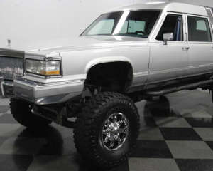 Lifted 1990 Cadillac Brougham Hearse