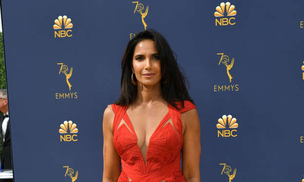 "Slide 2 of 22:  Everyone was talking about the red dress that Padma Lakshmi donned in 2018. The ""Top Chef"" beauty looked red hot in a J. Mendel gown with a plunging neckline and a thigh-high slit that wasn't necessarily anything to write home about... except that Padma shockingly wore this very same dress just a year and two days earlier at the 2017 Vogue India Women of the Year Awards in Mumbai. ""I think in this day and age we should stop sending the message to young women and girls that we all have these endless closets of clothes we never wear more than once, especially on a red carpet. The hours that it takes, the artisans' labor and the gorgeous fabrics all deserve to be worn again and treasured. It seems wasteful not to enjoy these dresses,"" she told People magazine of her decision to wear the same gown twice."