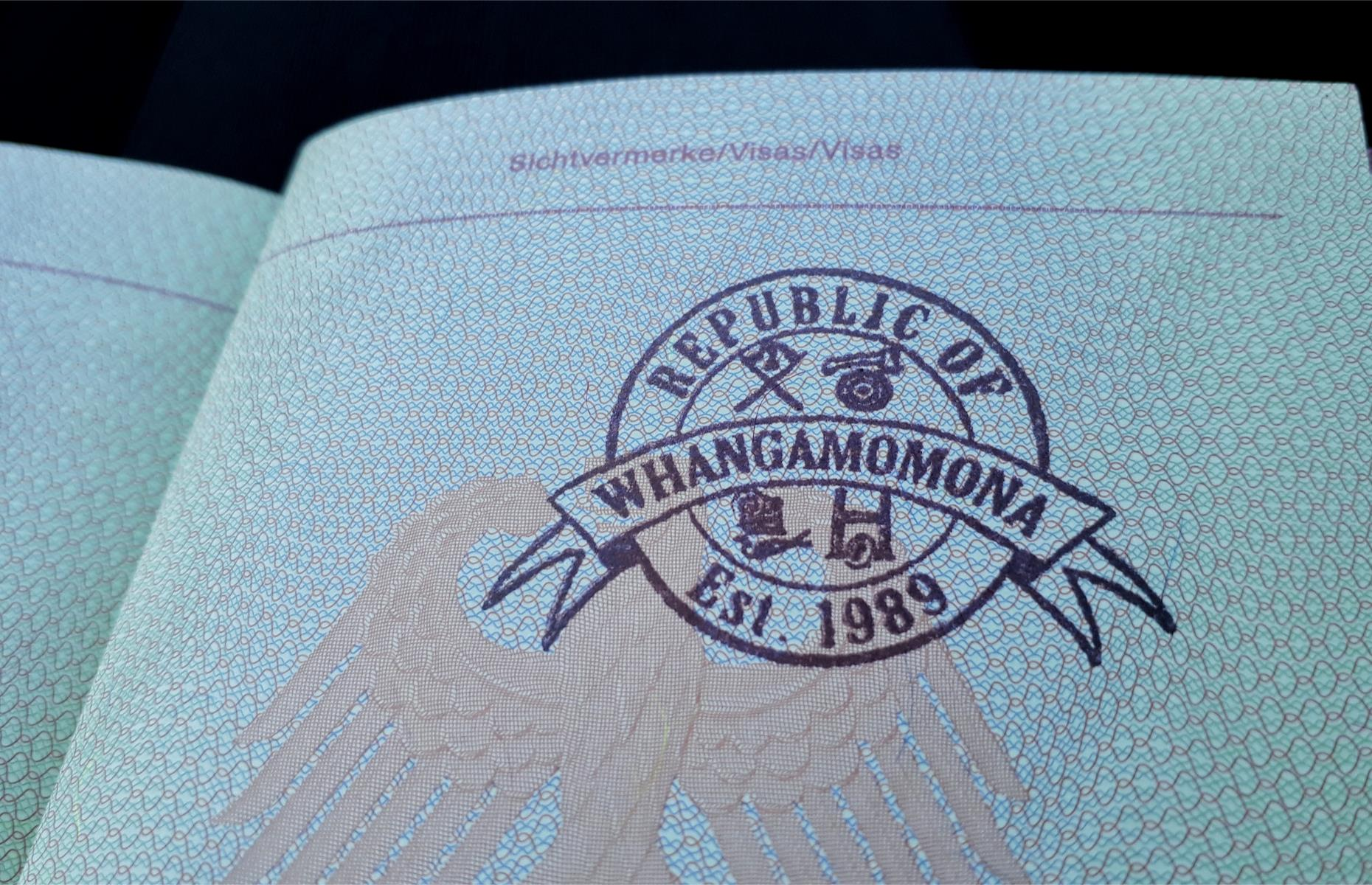 Slide 8 of 26: Passports and passport stamps are issued to ensure safe travel through Whangamomona. The quirky town can be reached by following the Forgotten World State Highway, 45 minutes east of Stratford. Discover secrets of the world's passport stamps.