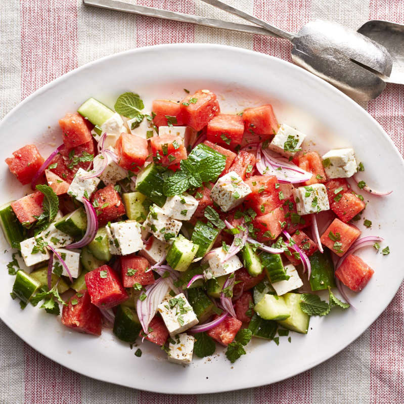 a plate of food on a table: While there are a lot of healthy foods that can help lower blood pressure, watermelon is one of the best foods. Naturally combatting high blood pressure with watermelon is a simple way to support health.