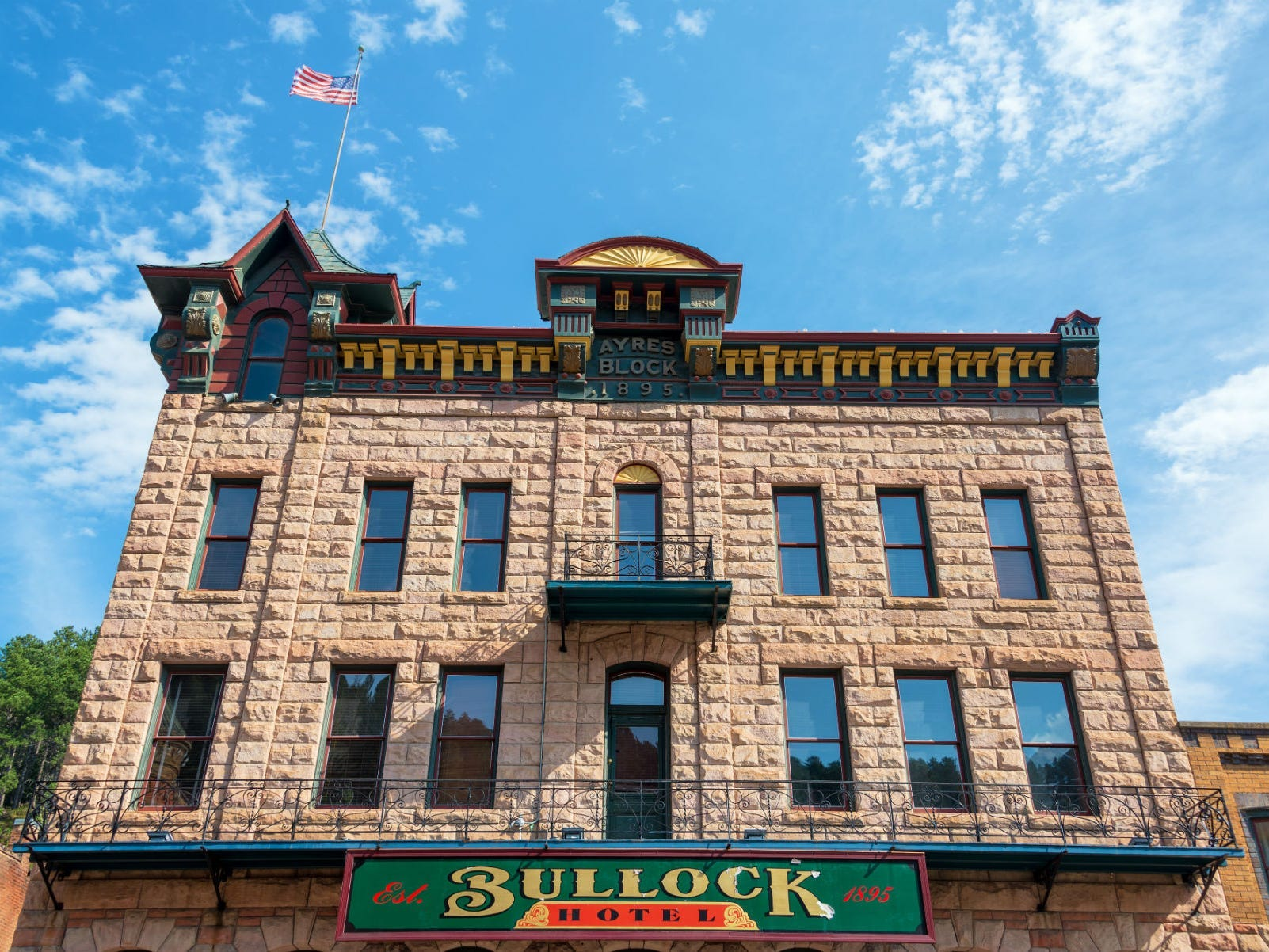Slide 42 of 51: The Bullock Hotel in Deadwood, South Dakota, is reportedly haunted by its original owner, Seth Bullock. According to the hotel's website, many guests feel a ghostly presence in the hallways on the second and third floors of the hotel.