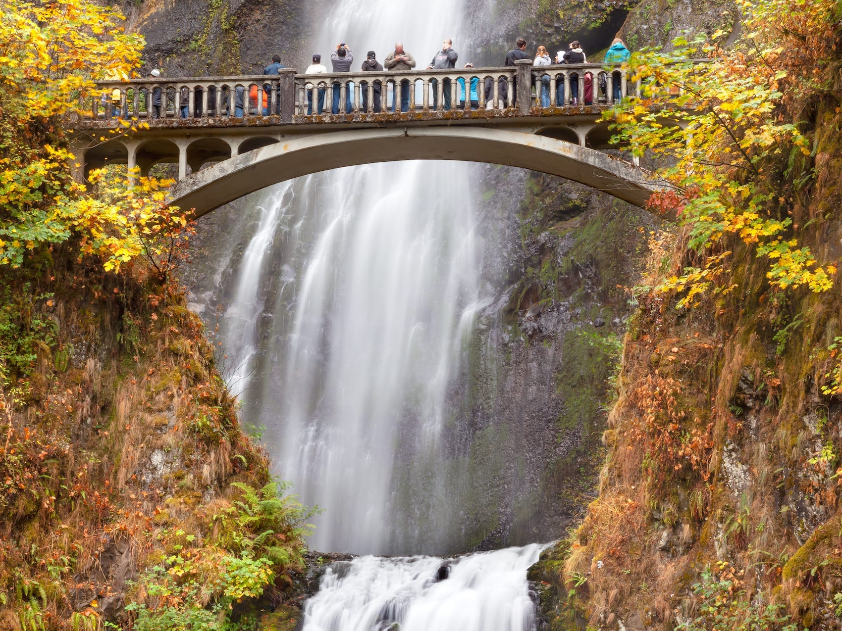 Slide 16 of 17: Columbia River Gorge gives visitors sweeping views of the Cascade Mountains with their colorful and bright foliage in the fall months.You can take scenic drives, hike, or even get in the water with a kayak, canoe, or boat.