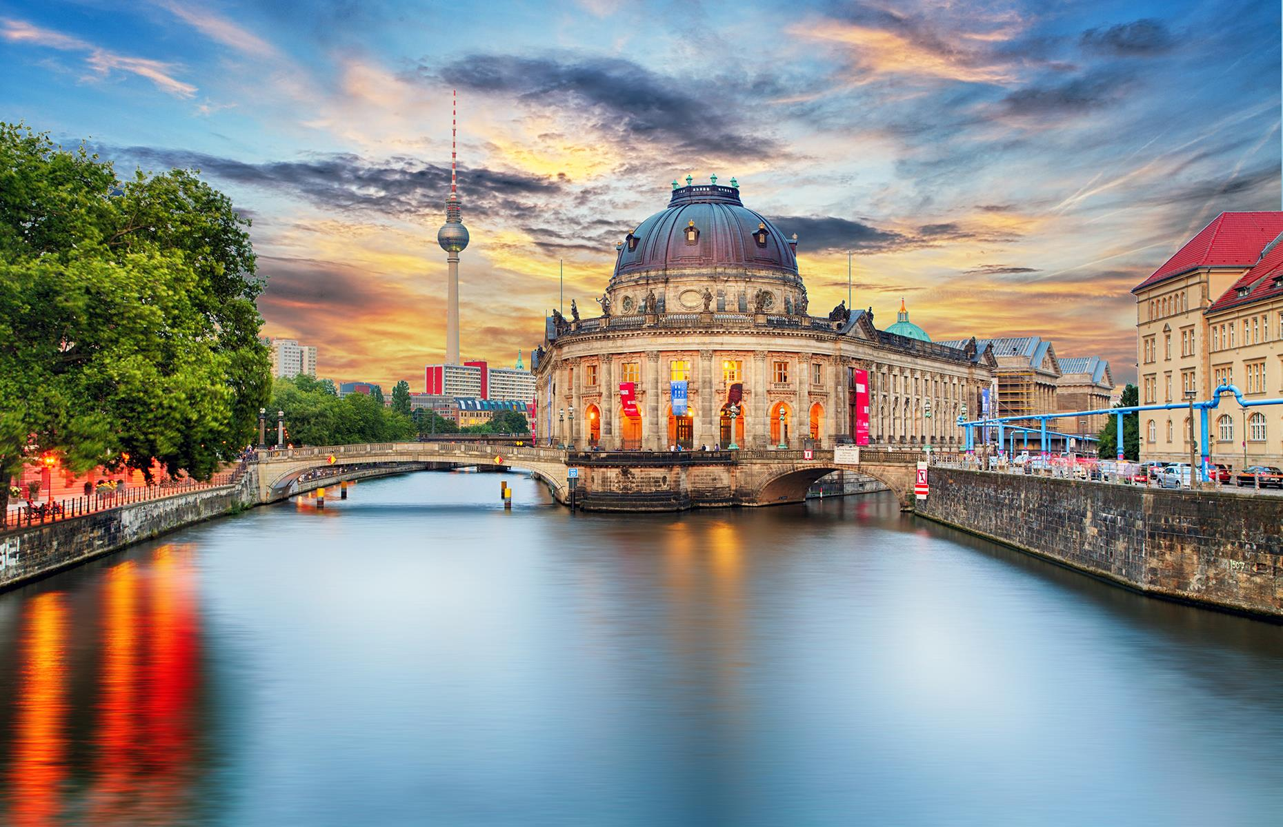 Slide 6 of 31: The German capital's cultural side is best on display on the charming Museum Island (pictured). Referring to the north side of the island, it's a complex of five significant museums (a sixth, the Humboldt Forum, is due to open near the site later this year), including The Altes (Old) and The Neues (New) Museums, Old National Gallery, the Bode Museum and The Pergamon Museum, which contains several restored and significant buildings, like the Ishtar Gate of Babylon.