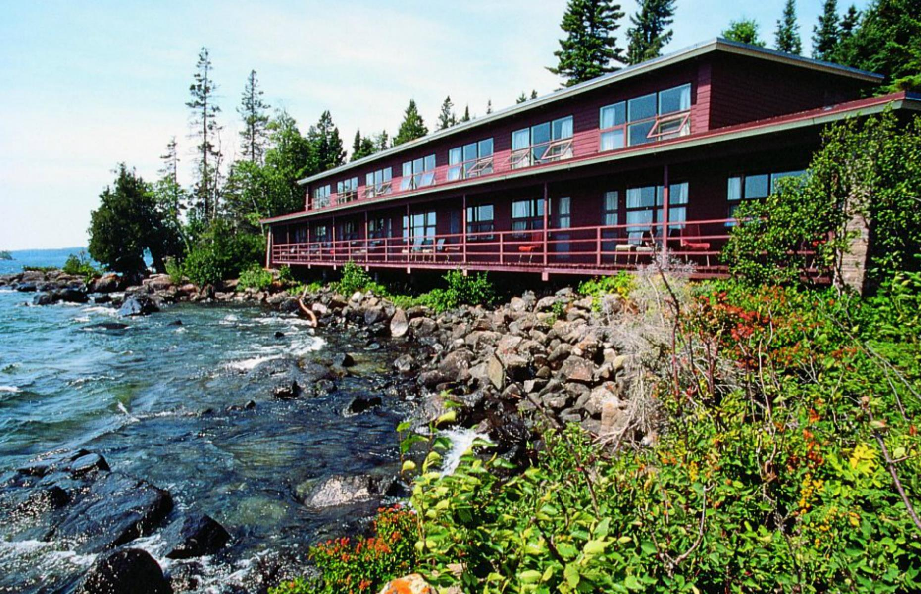 Slide 24 of 52: Rock Harbor Lodge perches on the edge of Lake Superior and the best rooms, cabins and cottages have balconies overlooking the water. The inside is cozy and classically decorated, with wood paneling and chairs facing the windows to make the most of the views. And it's really the location that makes this so special: Isle Royale National Park is a car-free archipelago with densely forested trails, kayaking on lakes and canals, and endless opportunities for blissful solitude. The lodge is taking bookings for the summer 2021 season.