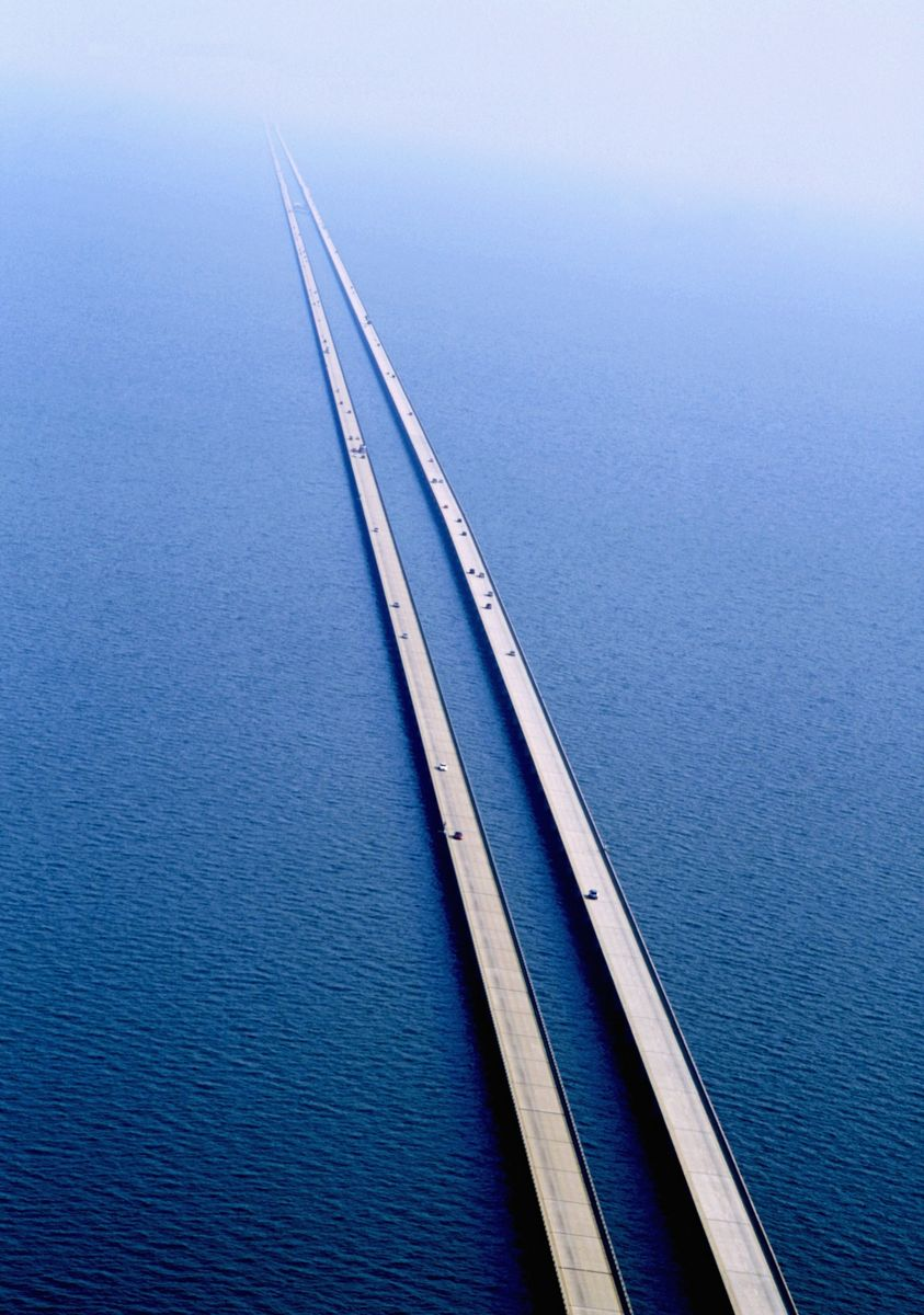 Slide 19 of 51:  The Lake Pontchartrain Causeway bridge in New Orleans, Louisiana is the longest continuous bridge passing over water. It's nearly 24 miles long (and for eight of those miles, you can't even see any land at all). RELATED: 51 Photos That Prove America Truly Is Beautiful