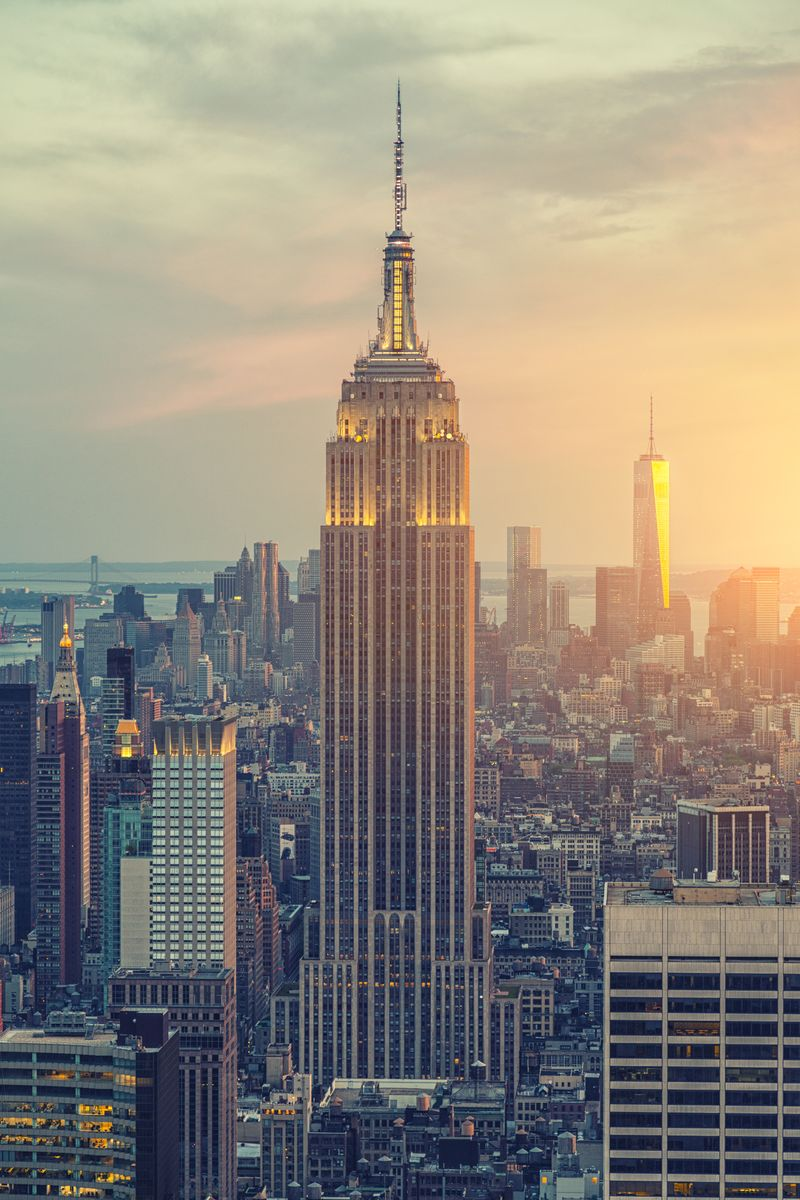 Slide 33 of 51: The Empire State Building is a familiar sight (even to those who have only seen it on screens or photos), but you might not know that the landmark building actually has its own zip code (10118).