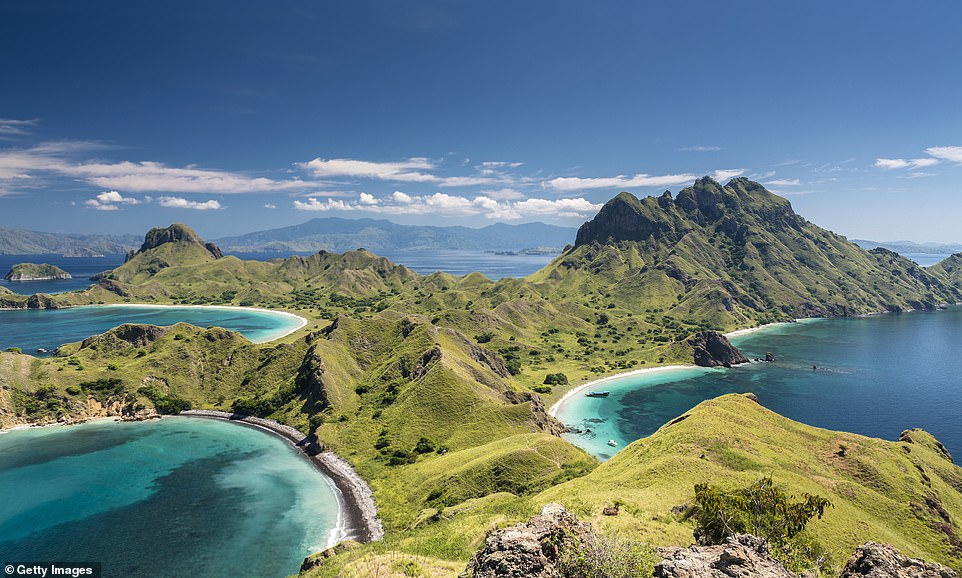Slide 22 of 23: KOMODO ISLAND, INDONESIA: Indonesia's Komodo National Park includes the islands of Komodo, Rinca and Padar, as well as many smaller ones, and is the original habitat of the endangered species of Komodo dragons, the largest lizard on Earth, which is named after the island. The island was awarded wonder status in 2012 for its work in protecting the endangered reptiles and the protection of marine animals. It is also world famous for its beautiful underwater life and scuba diving.