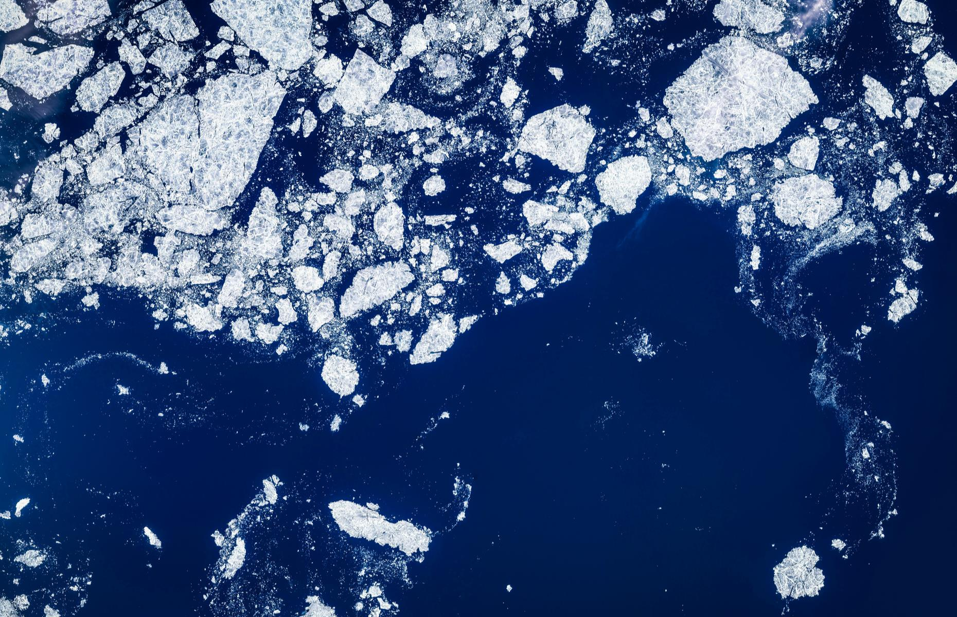 Slide 17 of 37: On the margins of the Arctic Ocean north of Alaska and west of the US state's Arctic islands, this remote sea is frozen solid all year round apart from in August and September. During these months, the ice around the coast cracks to reveal strips of water scattered with bergs and floes.