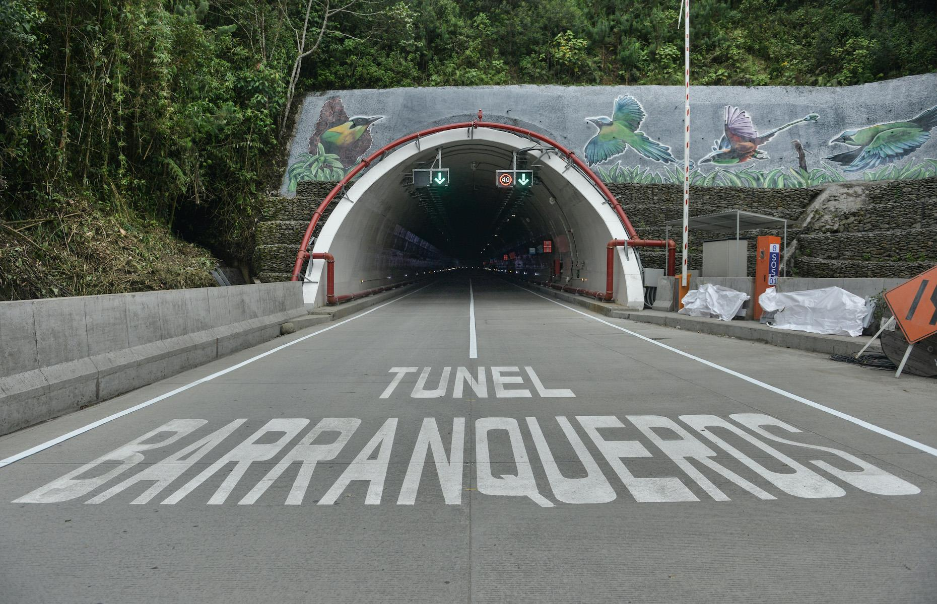 Slide 26 of 31: The brand spanking new La Línea, which crosses beneath the central range of Colombia's Andes, opened this September after 14 years in the making. At just over five miles long (8.65km), it is now the longest road tunnel in South America. The tunnel was built to reduce the time and cost of moving goods from the Pacific port city of Buenaventura to the center of the country.