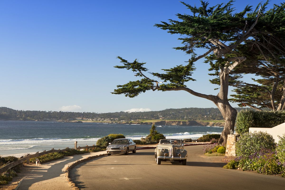 Slide 3 of 21: Carmel-by-the-Sea is located only a few hours away from San Francisco and is a short drive from Monterey (think Big Little Lies) and Big Sur. The village looks like something out of a fairytale, with cottages instead of your typical shops. Set in a valley with mountains all around, you're only minutes away from the Pacific, and super close to the famous 17-mile-drive in Pebble Beach.