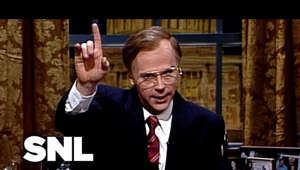a man wearing a suit and tie: President George Bush (Dana Carvey) addresses the nation about the holidays, the war on Iraq, his assurance it won't be another Vietnam, the support from other countries and what Saddam will hear on January 15th. [Season 16, 1990]  #SNL  Subscribe to SNL: https://goo.gl/tUsXwM  Get more SNL: http://www.nbc.com/saturday-night-live Full Episodes: http://www.nbc.com/saturday-night-liv...  Like SNL: https://www.facebook.com/snl Follow SNL: https://twitter.com/nbcsnl SNL Tumblr: http://nbcsnl.tumblr.com/ SNL Instagram: http://instagram.com/nbcsnl SNL Pinterest: http://www.pinterest.com/nbcsnl/