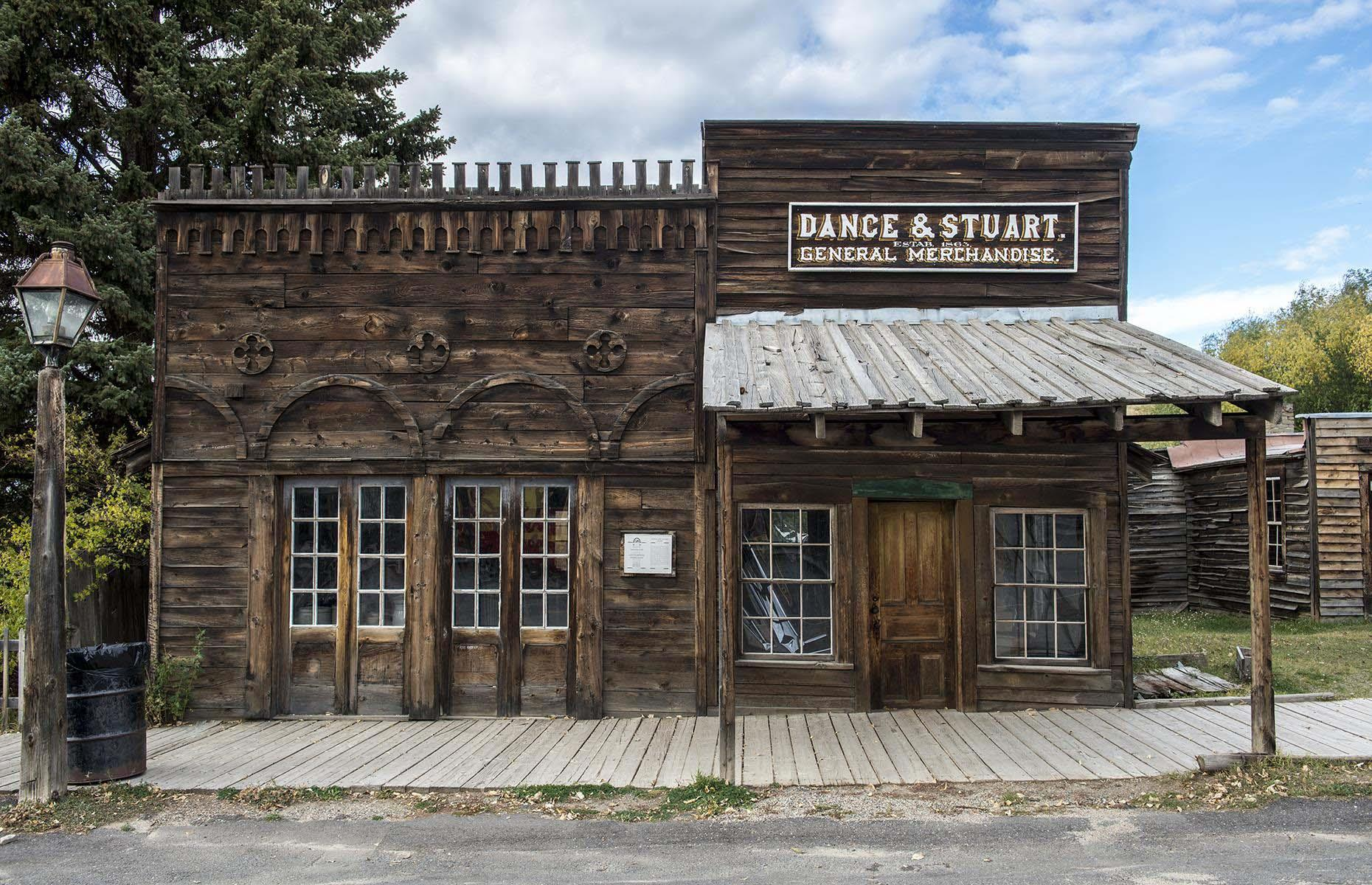 Slide 4 of 46: Today, Virginia City is a ghost town very much alive. This is thanks to Charles and Sue Bovey, who bought the town bit by bit in the 1940s to restore and preserve its original buildings. Currently, Virginia City is open for visitors with some COVID-19 measures in place.