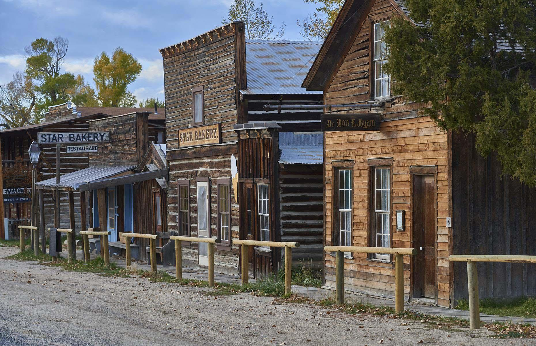 Slide 5 of 46: Just 1.5 miles (2.4km) from Virginia City lies another Gold Rush town turned museum. Bought by the Bovey family, who restored and preserved original buildings and their interiors between 1945 and 1978, the whole town is now a living museum.