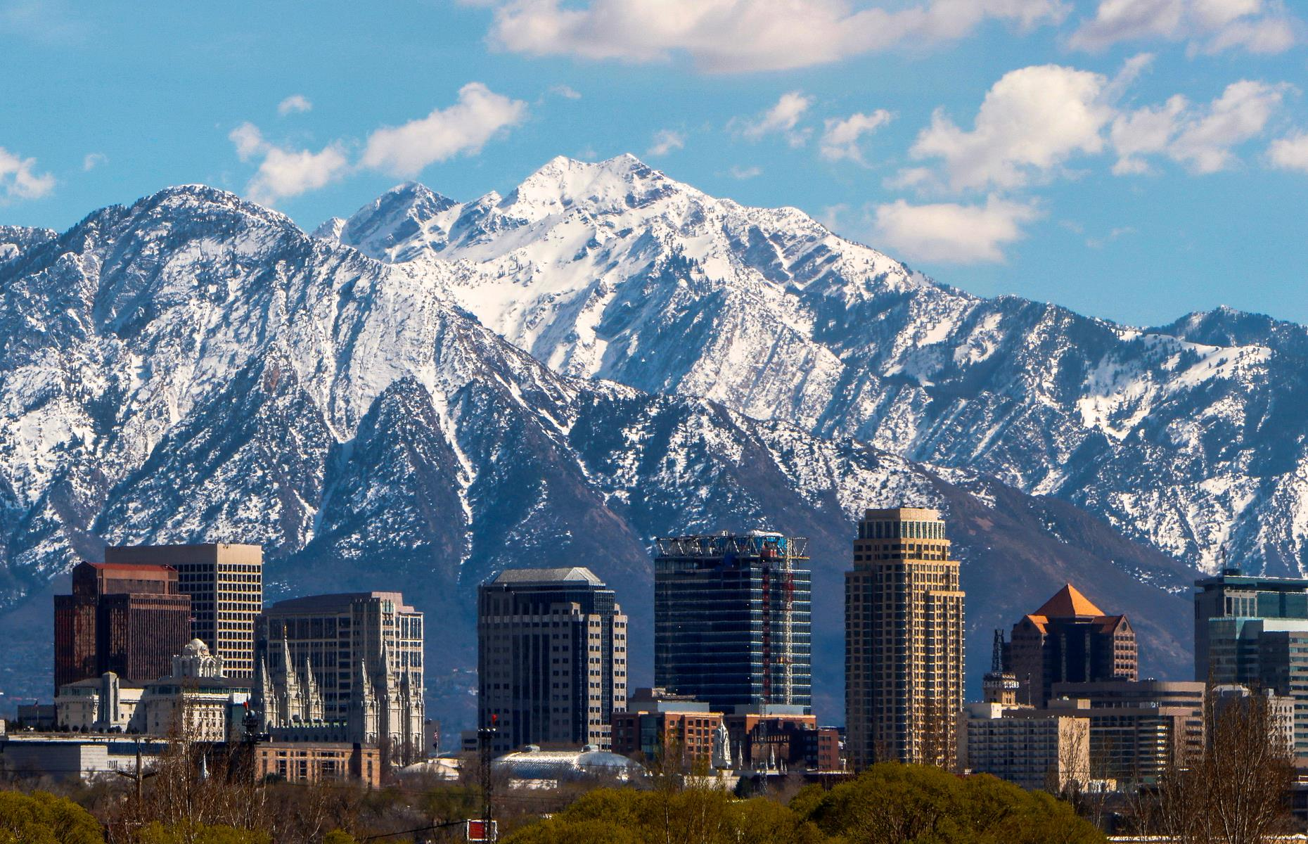 Slide 12 of 29: There's truly gorgeous scenery striking out in all directions from Salt Lake City. This is Utah, after all. Visitors can breathe in the hip, high-perched city's crisp air and take in the mountain views – so perfect they look like stage backdrops – before motoring south.