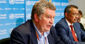 Tedros Adhanom Ghebreyesus wearing a suit and tie: Executive Director of the World Health Organization's (WHO) emergencies program Mike Ryan speaks at a news conference on the novel coronavirus (2019-nCoV) in Geneva, Switzerland.