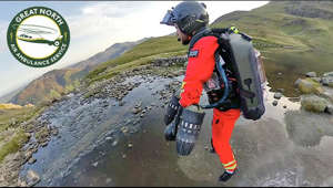 "a man flying through the air while riding a bike down a dirt road: A fantastic couple of days in the Lake District testing out how extreme Jet Suit mobility can support emergency paramedic response in the mountains. The Great North Air Ambulance reached out and constructed a typical rescue scenario. Calling in helicopter support for each and every case isn't possible or practical which leaves vehicle & foot approach. What if the Critical Care first responder could locate and stabilise the casualty within minutes of vehicle arrival. Well in this exercise we did it in 90 seconds vs the 25 minutes of arduous climb!   Who knows what the future holds but this is a start we are very proud of.  Catch the behind the scenes flight testing the day before, at the end of the film!  Huge thanks to the fantastic GNAAS team, Ed Wardle on ground cam, Ben Kenobi Ben@drone-filming.com on drone, Langdale Mountain Rescue Team, Stool End Farm, Cumbria Police and an amazing community that made this possible.   LINKS SHOP: http://www.gravity.co/mobile-shop/ Instagram: https://www.instagram.com/takeongravity/?hl=en Facebook: http://www.facebook.com/takeongravity/ LinkedIn: https://www.linkedin.com/in/richardbrowninggravity/ Web: http://www.gravity.co TED 2017 talk: http://go.ted.com/richardbrowning  BACKGROUND With a rich family history in Aviation, former Oil Trader & Royal Marines Reservist, Richard Browning, founded pioneering Aeronautical Innovation company, Gravity Industries in March 2017 to launch human flight into an entirely new era.  The Gravity #JetSuit uses over 1000bhp of Jet Engine power combined with natural human balance to deliver the most intense and enthralling spectacle, often likened to the real life Ironman.  Gravity has to date been experienced by over a billion people globally and covered by virtually every media platform. The Gravity Team, based in the UK, have delivered over 100 flight & Speaking events across 30 countries including 5 TED talks.  ""The team and I are delivering on the vision to build Gravity into a world class aeronautical engineering business, challenge perceived boundaries in human aviation, and inspire a generation to dare ask 'what if…""  Get in touch for;  Speaking Engagements // The Gravity Team Flying at your Event // Personal Flight Experiences & Flight Training // get involved in the Jet Suit Race Series!  http://www.gravity.co  Richard Browning  Founder & Chief Test Pilot  Gravity Industries ltd   #TakeOnGravity #RichardmBrowning"