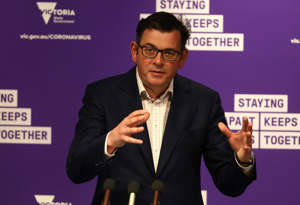 MELBOURNE, AUSTRALIA - SEPTEMBER 30: Victorian Premier Daniel Andrews speaks during a press conference on September 30, 2020 in Melbourne, Australia. Victoria has recorded 13 new cases of COVID-19 and four deaths overnight. Coronavirus restrictions eased slightly across Melbourne from Monday 28 September as Victoria enters into its second step in the government's roadmap to reopening. The overnight curfew no longer applies. Up to five people from no more than two households are able to gather outside. Childcare can reopen and restrictions have been lifted on some workplaces, with industries allowed to commence a partial return to work in Melbourne if they have COVID-safe plans in place. Weddings will be allowed outdoors, with a limit of five people, including the couple and two witnesses. Outdoor religious gatherings and ceremonies will be allowed, but with a limit of five people plus one faith leader. Metropolitan Melbourne has been subject to Stage 4 restrictions since 2 August 2020 in response to the re-emergence of COVID-19 in the community. (Photo by Robert Cianflone/Getty Images)
