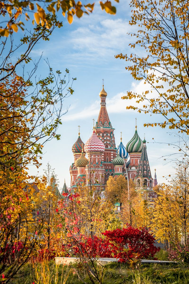 Slide 24 of 33: The colorful St. Basil's Cathedral on Moscow's Red Square.