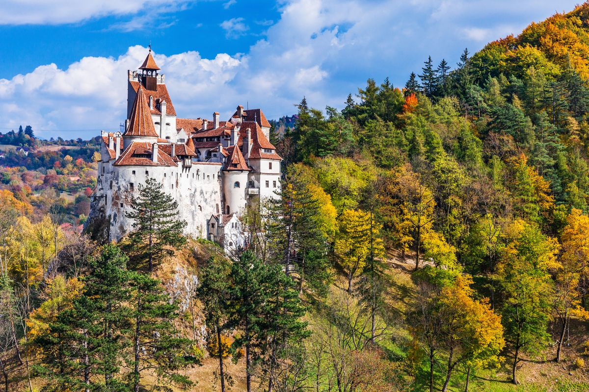 Slide 11 of 33: Get into the Halloween spirit in Transylvania and visit Bran Castle, which inspired Dracula.