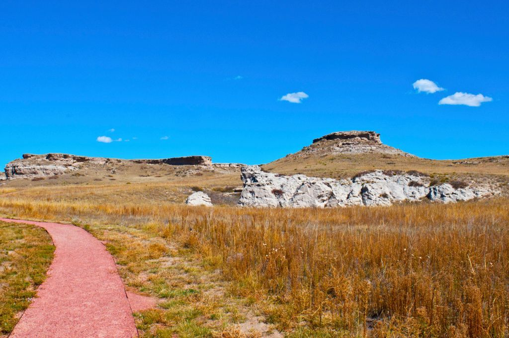 Slide 28 of 51: Agate Fossil Beds National MonumentA lot of Nebraska is filled with farmland, but this open space makes it the perfect place for wild animals to roam. Find out why paleontologists love this fossil filled spot.