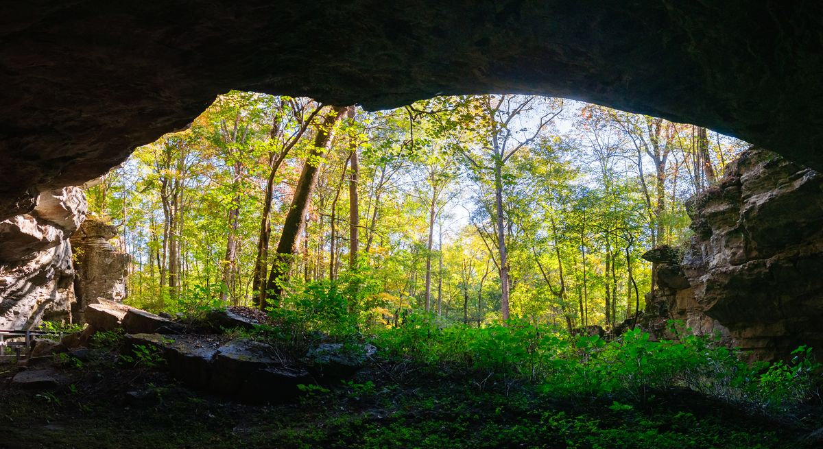 Slide 2 of 51: Russell Cave National Monument This hole in the ground has some major historical importance. Here you'll get to see how prehistoric man lived 10,000 years ago in this cave shelter. This spot is quite off the beaten path in Bridgeport, AL, but totally worth the visit. Make sure you ask the park rangers to demo some of the prehistoric weaponry, it's really neat.