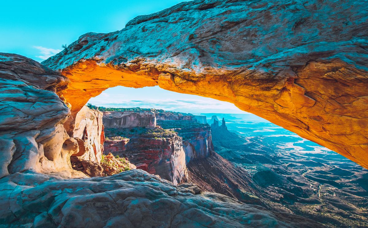 Slide 45 of 51: CanyonlandsArches, Zion, Bryce Canyon... Utah has a bounty of beautiful parks to explore with some of the most stunning hiking around. You can also explore on a four-wheeler, by horse or by boat, since there are plenty of rivers coursing through the park.