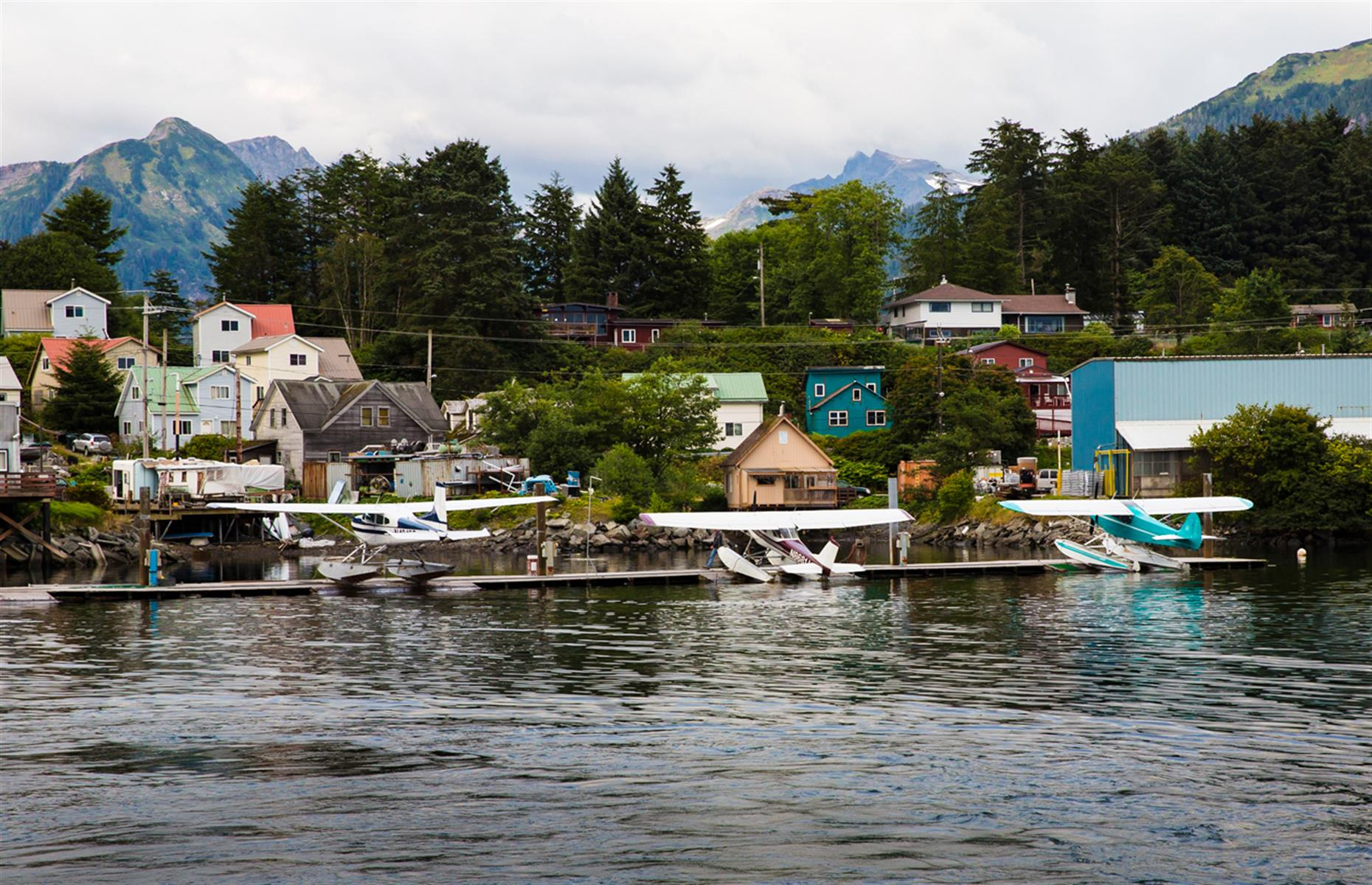 Slide 27 of 35: Sitka, located on Baranof Island's west shore in the southern tip of Alaska, is one of the few remaining places that nods at the state's Russian influence. In the mid-1700s, the Russians arrived in Alaska and in 1804, they attacked a Tlingit fort and Sitka became America's Russian capital four years later. Today, it's a patchwork of pastel-colored buildings, reminders of Russian history and culture – such as St Michael's Russian Orthodox Cathedral – and stunning views across the mountains.