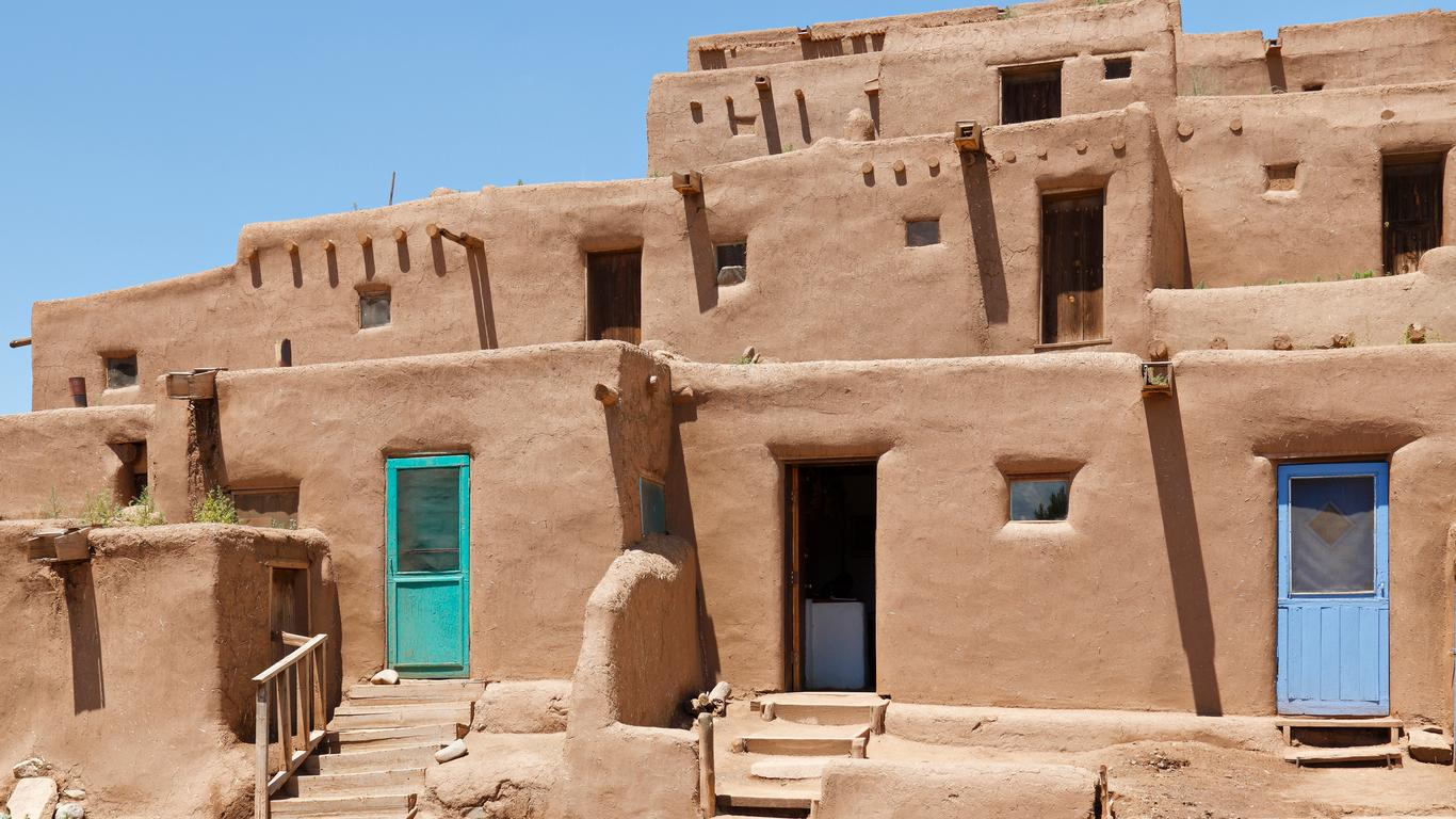 Slide 32 of 51: Taos is famous for the Taos Pueblo, which is one of the oldest continuously inhabited communities in the U.S. The UNESCO World Heritage Site dates back centuries prior to Spanish colonization and the namesake town's founding more than 220 years ago.