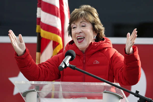 Slide 4 of 62: Republican Sen. Susan Collins, R-Maine, speaks on Wednesday, Nov. 4, 2020, in Bangor, Maine, after Tuesday's election. (AP Photo/Robert F. Bukaty)