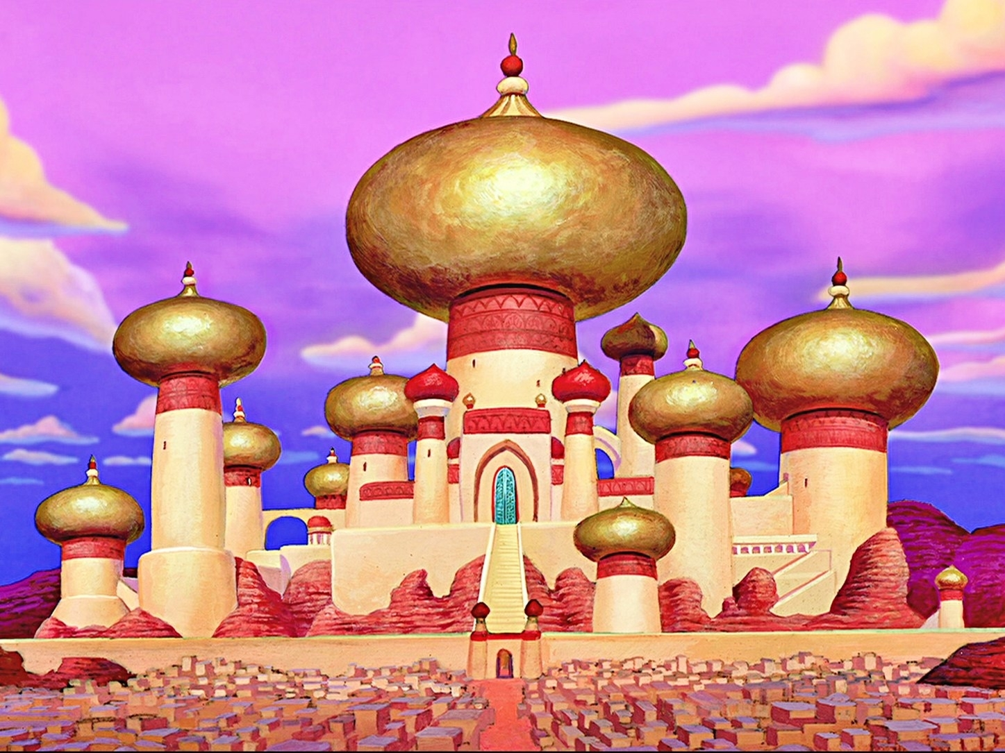 Slide 7 of 41: It provided the inspiration for the Sultan's palace in the movie Aladdin, released in 1992, although the movie has an Arabian, rather than Indian, setting.
