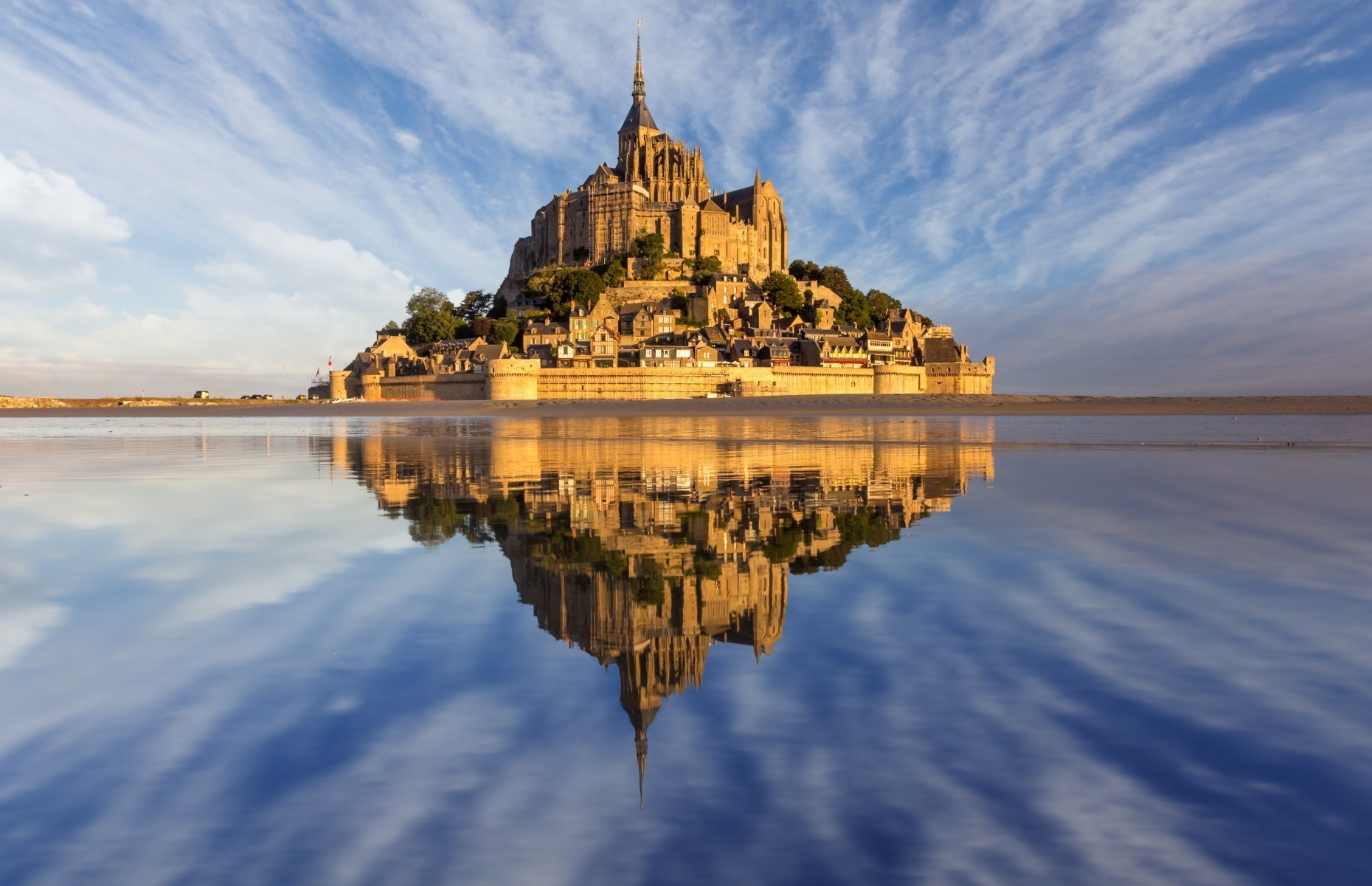 Slide 10 of 41: The makers of the movie Tangled drew inspiration from France's famous Mont-Saint-Michel when creating the kingdom of Corona.