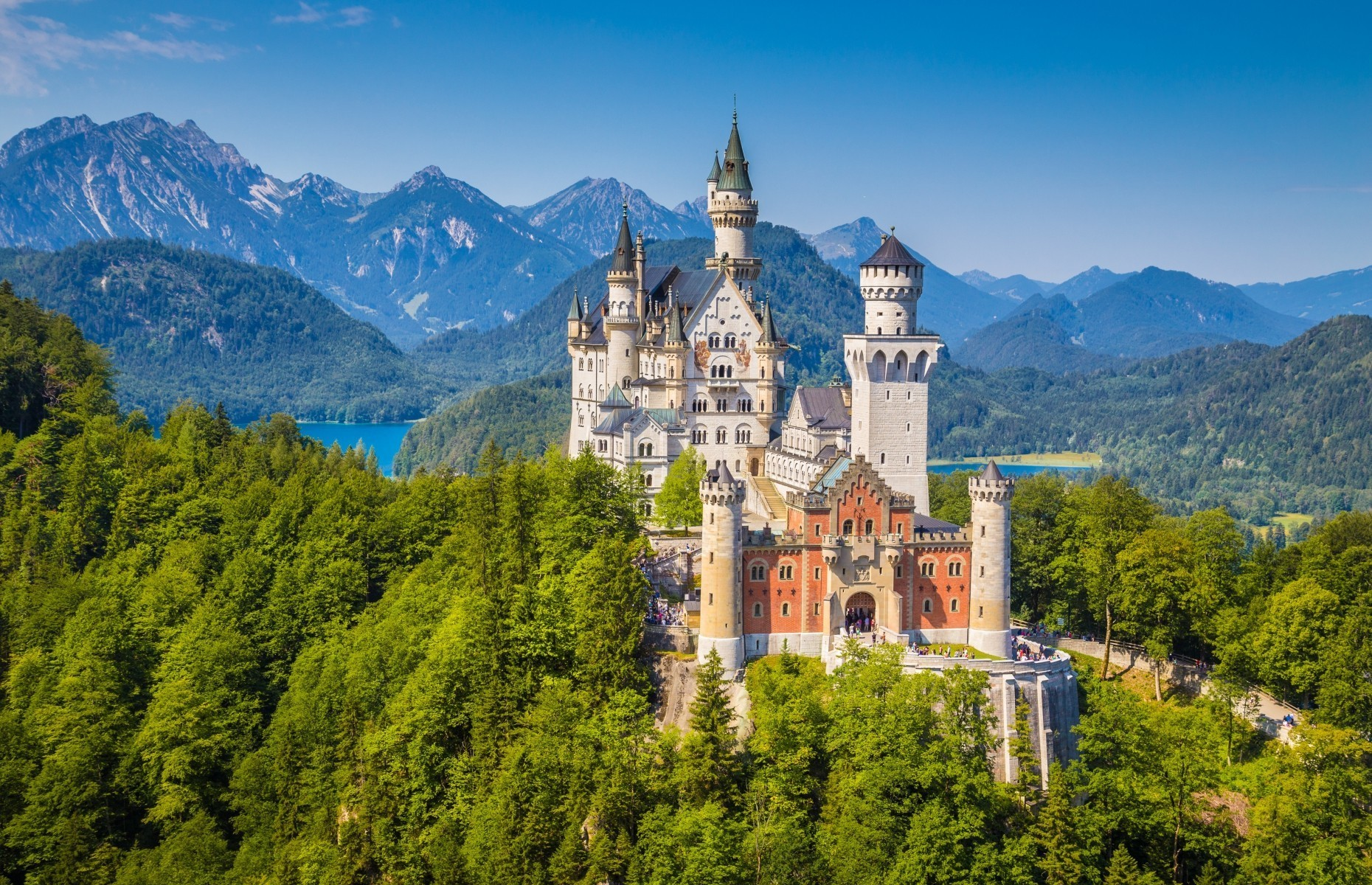 Slide 2 of 41: If you've seen Sleeping Beauty or visited any of the Disney theme parks, you will immediately recognize Neuschwanstein castle, built in the 19th century.