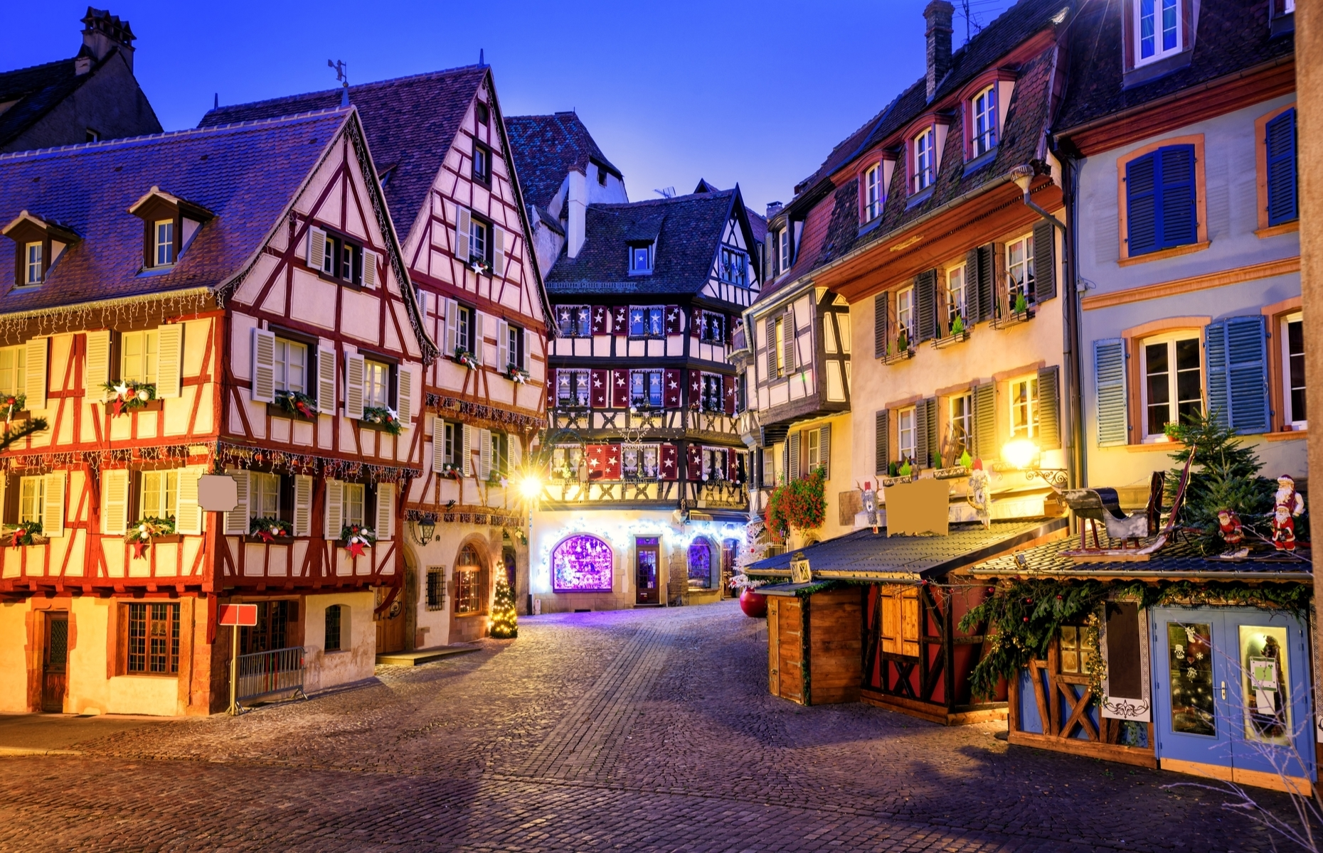 Slide 22 of 41: Belle's home village in the famous animated movie Beauty and the Beast was inspired by villages in Alsace, France.