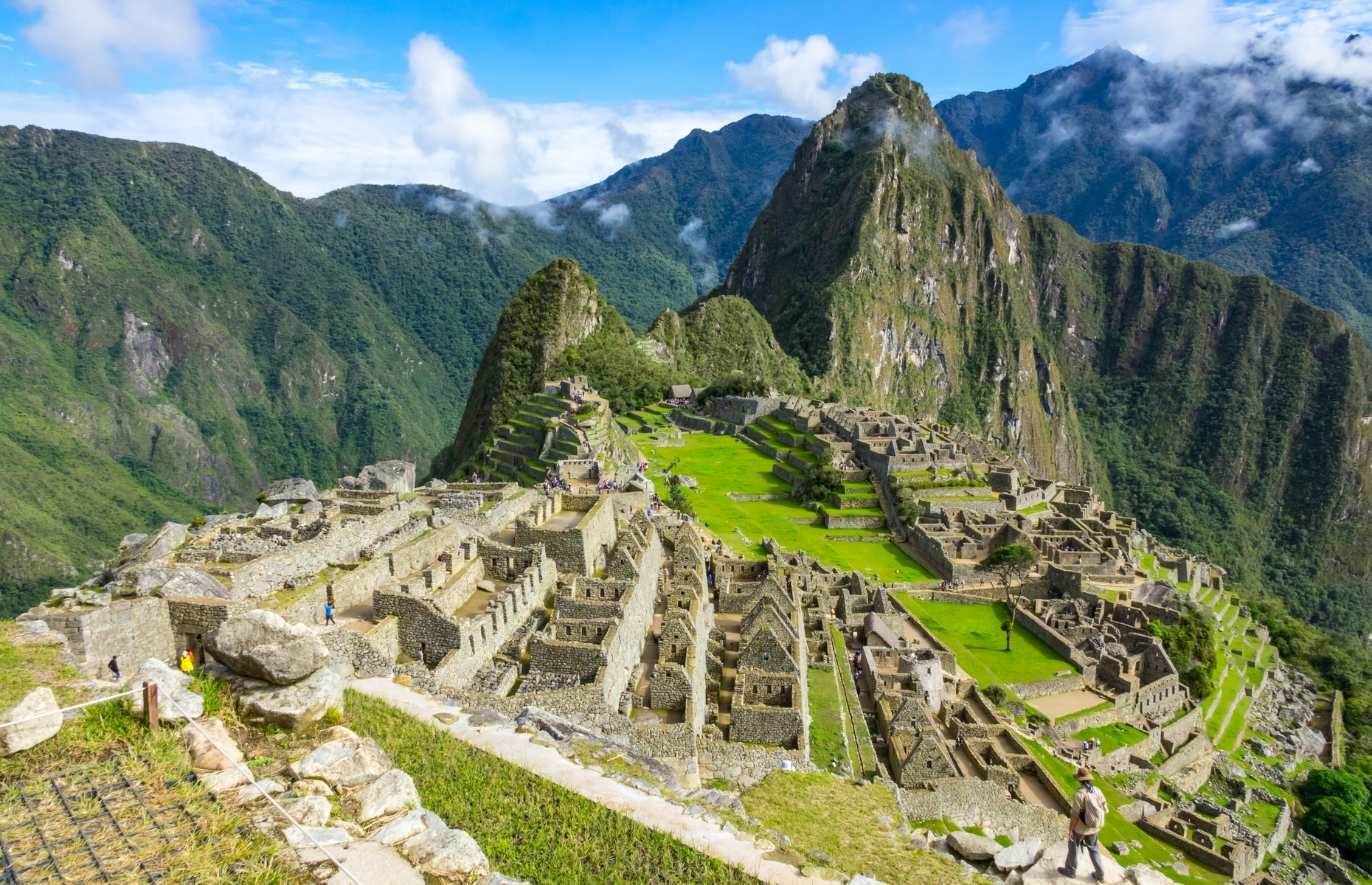 Slide 24 of 41: The famous site of Machu Picchu, built by the emperor Pachacuti around 1440, provided the inspiration for the village of Pacha in The Emperor's New Groove, released in 2000.