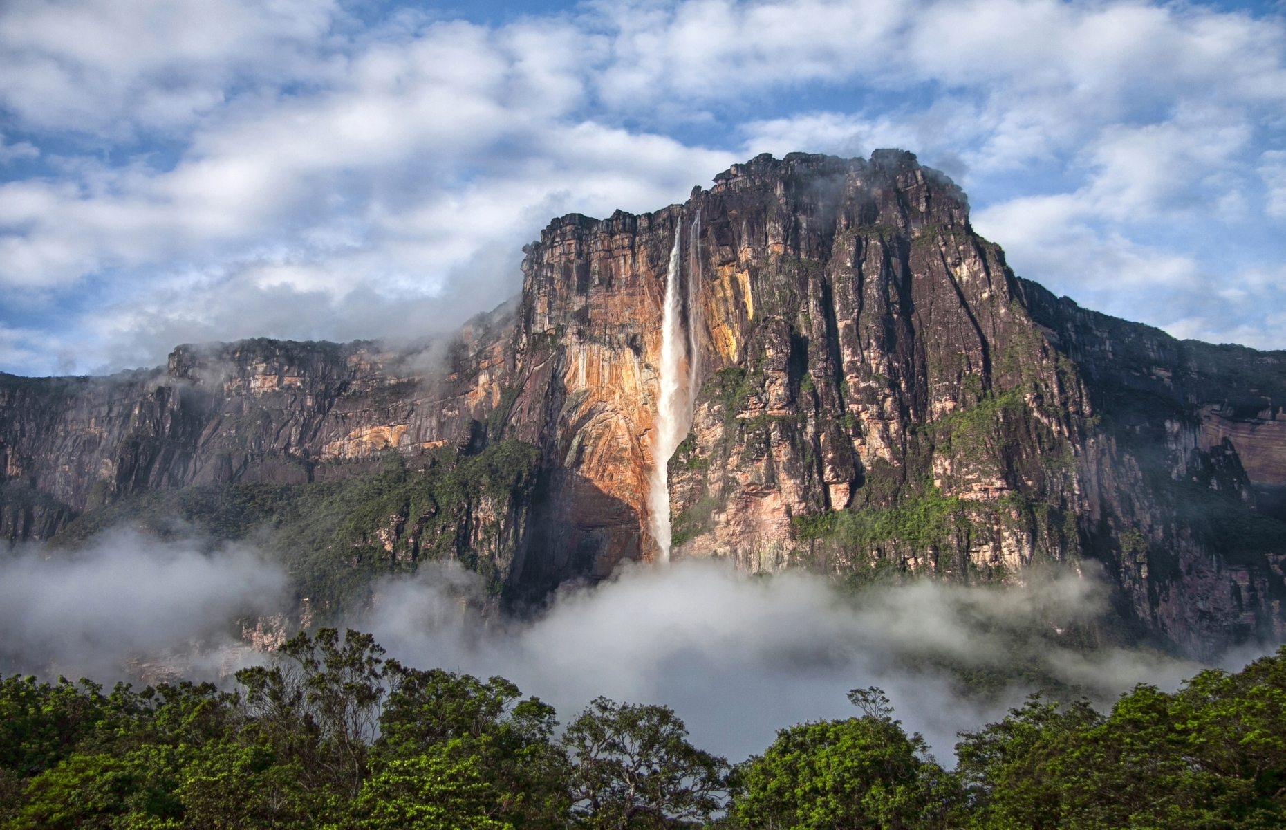 Slide 8 of 41: The world's highest waterfall, Angel Falls in Venezuela, was the inspiration behind Paradise Falls in the movie Up.