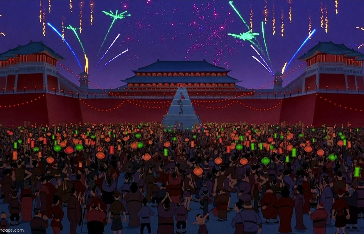 Slide 17 of 41: This site provided the inspiration for the imperial palace, an important location in the movie Mulan.