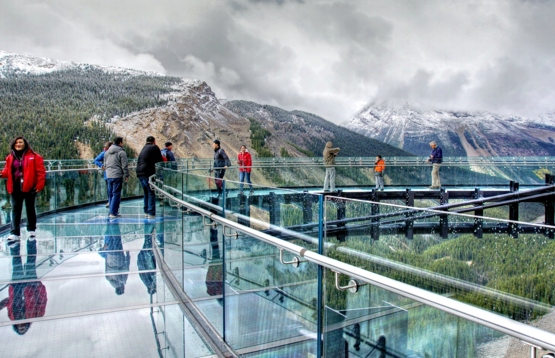 Slide 11 of 16: Cliffwalk is series of walkways that look out over the Capilano River in British Columbia. Their highest point measures 90 metres (295 feet) above the river. Those brave enough can venture onto two glass platforms that offer views of the canyon below.