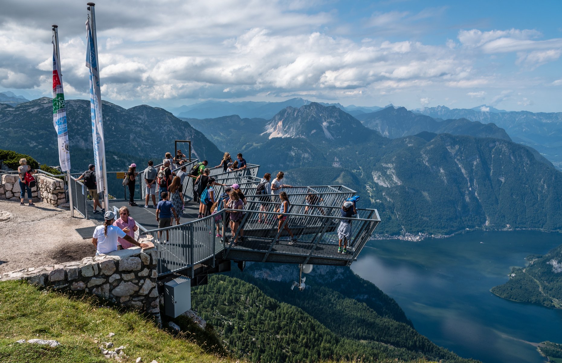 Slide 16 of 16: As the name suggests, the 5fingers viewing platform has five platforms, and each has a different design. One of the platforms has a glass floor, allowing visitors to see the magnificent Austrian Alps under their feet.