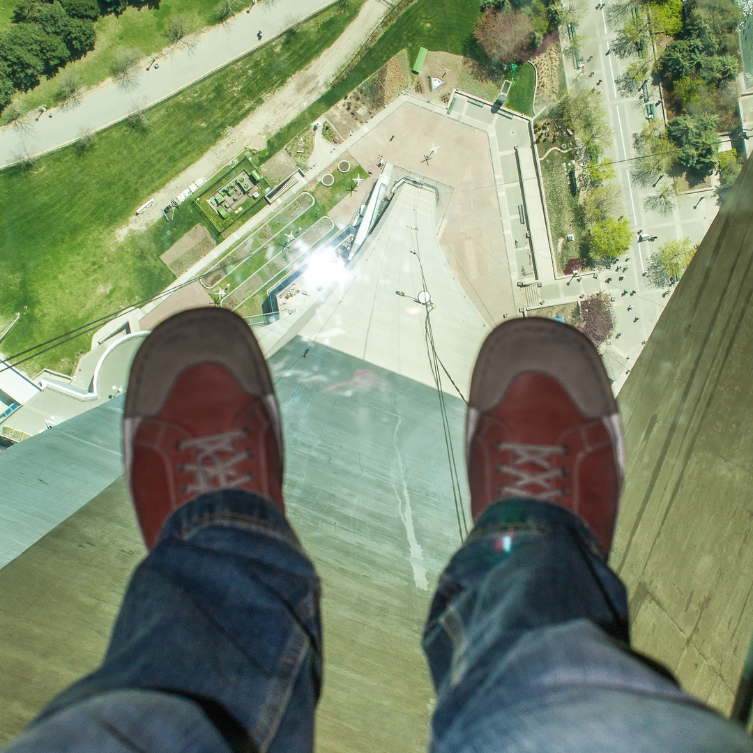 Slide 9 of 16: The CN Tower offers an exceptional 360-degree panoramic view of Toronto and a glass floor that looks down at the ground, 342 metres (1,122 feet) below. Adrenaline junkies can also try the EdgeWalk, an outdoor walk around the rim of the roof.