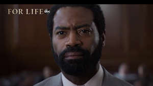"Nicholas Pinnock wearing a suit and tie: Aaron Wallace's fight continues in season two of ""For Life,"" as the wrongfully convicted prisoner-turned-litigator and social crusader embarks on a more personal journey. Aaron is motivated by the hope of being reunited with his family and reclaiming a life of freedom to take up the mantle against systemic injustice from outside the prison walls. With continued help from the people who supported him—his family, a wily one-time public defender, Henry Roswell, and his former prison warden, Safiya Masry—Aaron continues his battle against the very political machine that once put him away, undeservedly. Inspired by the life of Isaac Wright Jr., ""For Life"" continues to shine an unrelenting light upon the institutional wrongs of our penal and legal systems.   Subscribe: http://goo.gl/mo7HqT"