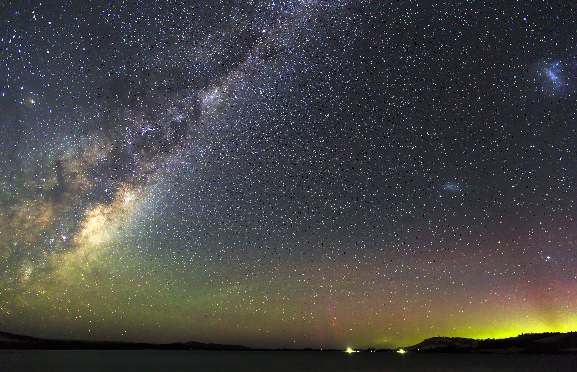 Slide 19 of 21: The southern lights shine brightly over Cremorne in Tasmania, Australia's southernmost state where you can catch this astounding sight year-round! Winter (meaning June through August) with its longer nights and moderate climate is the best time of year to try your luck!