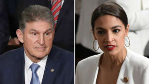 Joe Manchin wearing a suit and tie: Manchin: Ocasio-Cortez 'more active on Twitter than anything else'