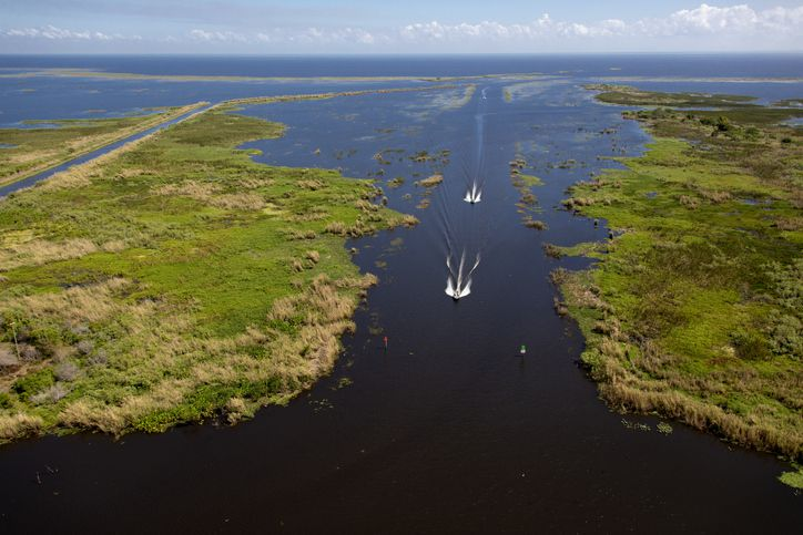 Slide 46 of 52: Huge freshwater Lake Okeechobee is as shallow as one could expect from a lake that's a gateway to the magnificent Everglades. Visitors come here year-round to traverse the surrounding Florida National Scenic Trail.