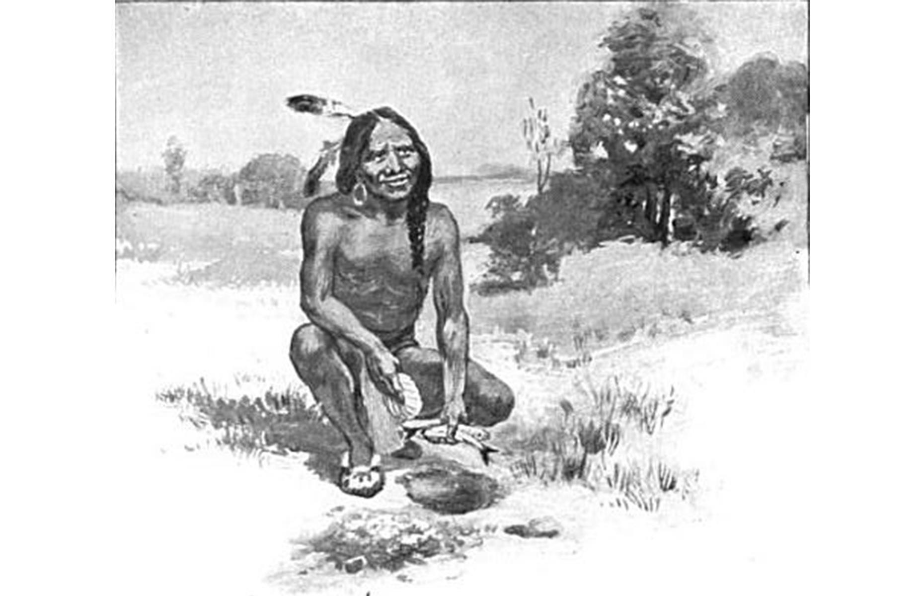 Slide 18 of 23: It's likely that even more Pilgrims would have met their death if it wasn't for the aid offered by the indigenous peoples here. Most notably, Samoset of the Abenaki tribe and Tisquantum (pictured here, also known as Squanto) of the Patuxet tribe, taught the colonists to fish, hunt and grow corn, all of which was vital for their survival. Tragically, Squanto passed away during an expedition on Cape Cod with governor William Bradford.