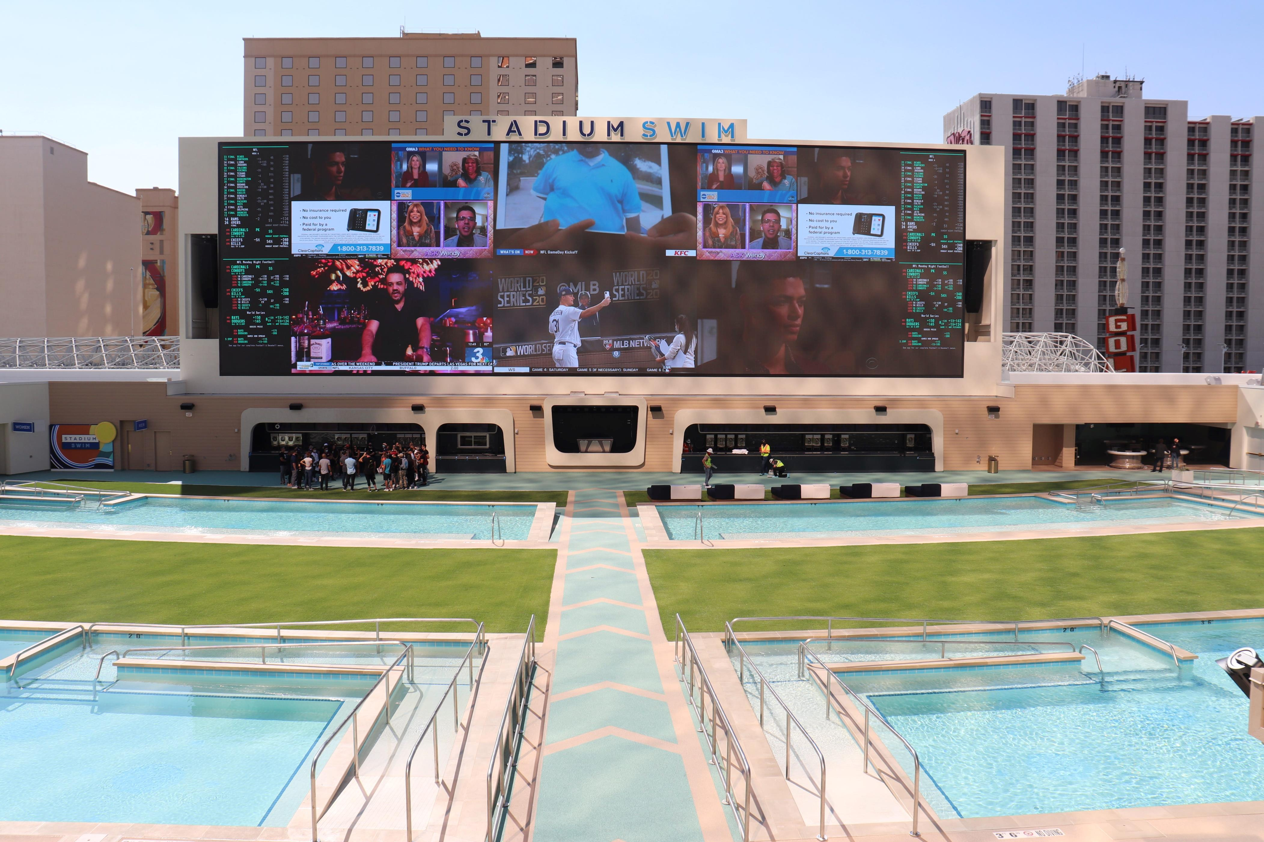 Slide 1 of 15: Stadium Swim, the giant pool at Circa Resort & Casino, is opening in downtown Las Vegas this month.