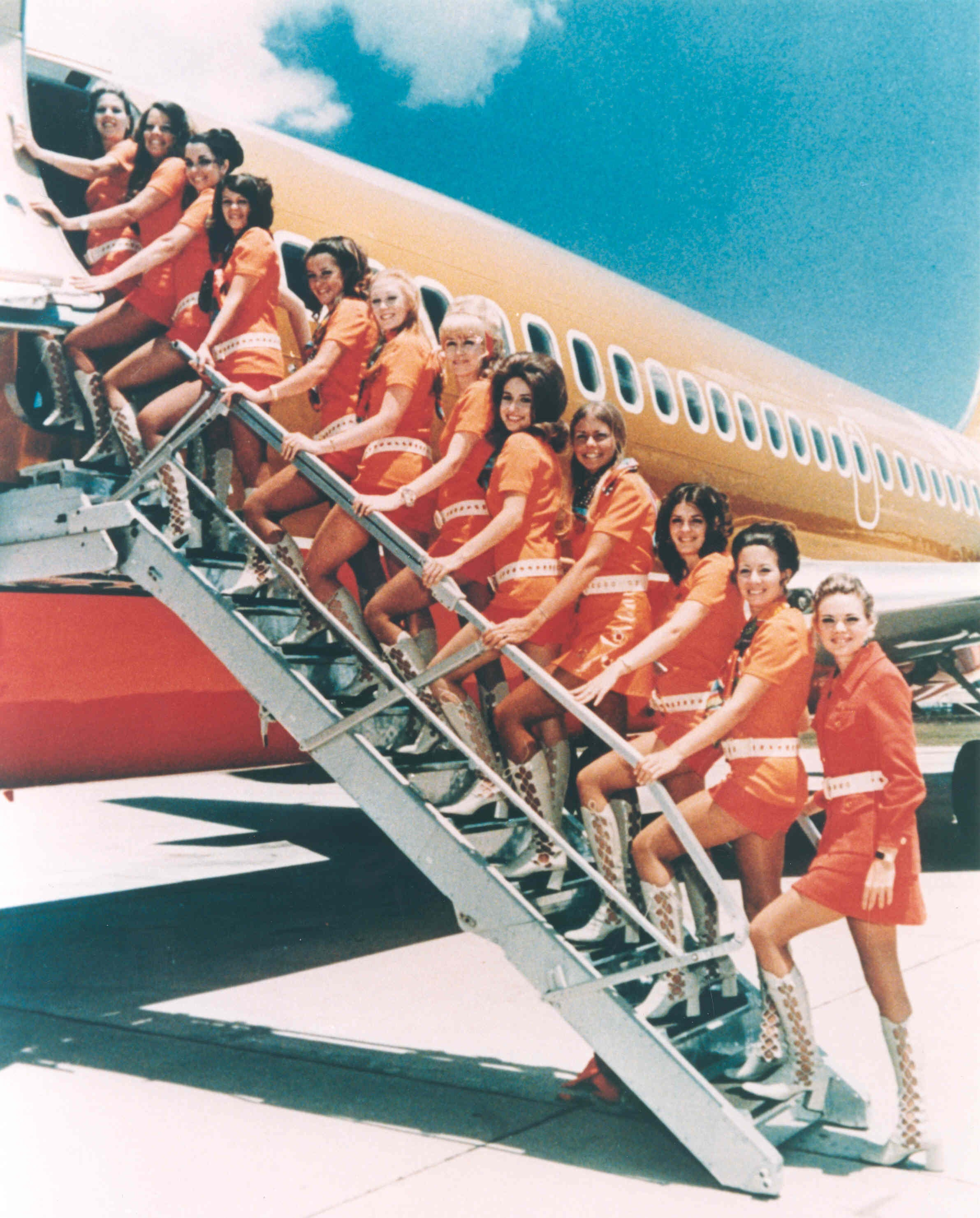 Slide 1 of 17: When Southwest started in 1971, it flew just two routes:Dallas-San Antonio and Dallas-Houston. That's not the only thing that was different back then: The flight attendants wore hot pants and go-go boots. Click ahead for more photos from the airline's history.