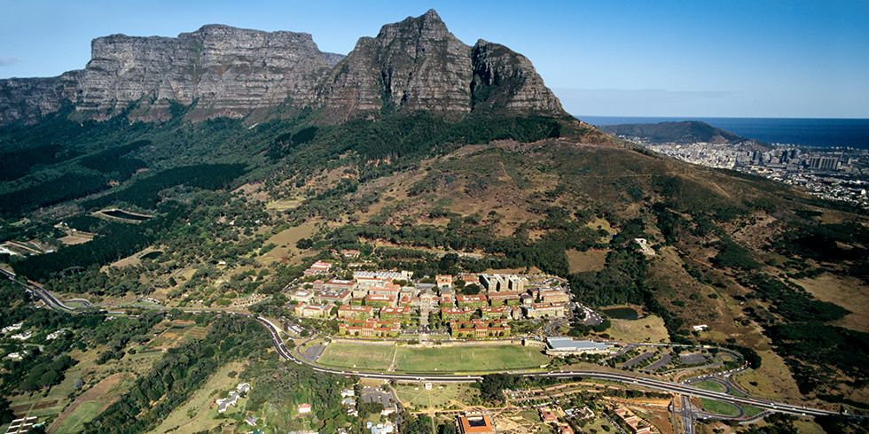 Slide 25 of 41: The main campus, known as Upper Campus, is located on the Western Cape of South Africa in the valley below Devil's Peak. Not only is the public research university gorgeous, it is the highest-ranked African university in the QS World University Rankings.