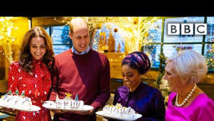 a person holding a birthday cake: Subscribe and 🔔 to OFFICIAL BBC YouTube 👉 https://bit.ly/2IXqEIn Stream original BBC programmes FIRST on BBC iPlayer 👉 https://bbc.in/2J18jYJ  Mary Berry, Nadiya Hussain and the Duke and Duchess of Cambridge take on a special Christmas challenge which sees the royals going head to head in their very own bake-off!  A Berry Royal Christmas offers a unique look into charities that the Duke and Duchess of Cambridge support. This special programme culminates in a Christmas party, hosted by the Duke and Duchess and features some surprise guests, including Nadiya Hussain who helps Mary Berry with the festive food.   A Berry Royal Christmas | BBC  #BBC #BBCiPlayer   All our TV channels and S4C are available to watch live through BBC iPlayer, although some programmes may not be available to stream online due to rights. If you would like to read more on what types of programmes are available to watch live, check the 'Are all programmes that are broadcast available on BBC iPlayer?' FAQ 👉 https://bbc.in/2m8ks6v.